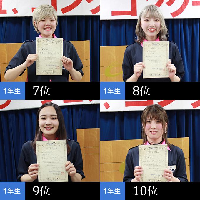 第7位 矢野口弘乃さん,第8位 仲谷楓音さん,第9位 山口ゆきさん,第10位 鈴木由比さん